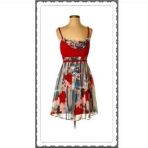 ❤️ NWT AUGGIE RED FLORAL DRESS